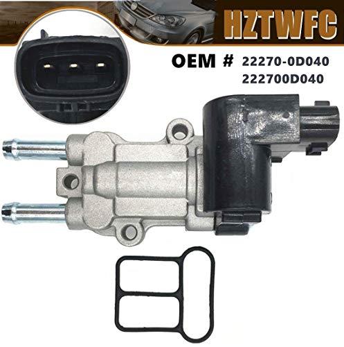HZTWFC Valve de contrôle d'air de ralenti IAC IACV OEM # 22270-0D040 222700D040 pour Toyota Corolla Matrix Pontiac Vibe 1.8L 2002-2008
