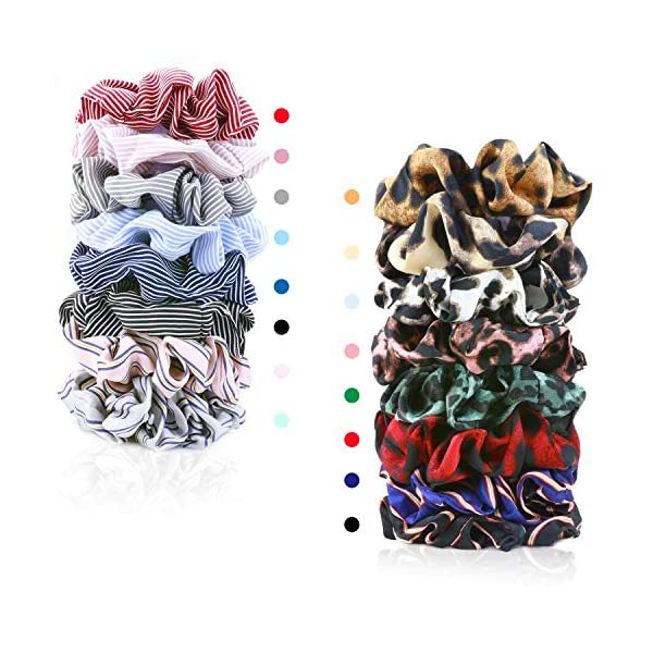 16 Pack Leopard Hair Scrunchies Scrunchies Elastic Rubber Band Hair Rope Bobbles Hair Ties 5