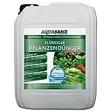 AQUASAN Aquarium PlantoMax Flüssiger Pflanzendünger Plus (GRATIS Lieferung in DE - Aquarium Pflanzen-Dünger mit Allen wichtigen Nährstoffen - sattgrüner Pflanzenwuchs), Inhalt:5 Liter