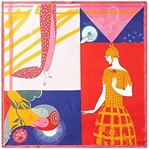 LLZHWSJ Foulard en Soie Chale Prougeection Contre Le Soleil Fête De Danse Parcravates Soirée Soie Foulard Soie   Femme écharpe Chale