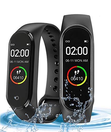 Langguth Reloj inteligente de seguimiento de actividad física – Podómetro, pulsera de fitness para hombre y mujer – Recordatorio de notificaciones inteligente & IP67 resistente al agua