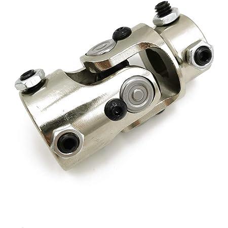 "3//4/"" Round x 3//4/""Round-No Spline Chrome Single Steering Column U-Joint coupler"