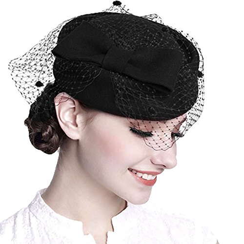 7e97e4946f1 Dress Hats with Veil  Amazon.com