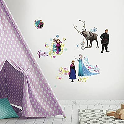 """RoomMates RMK2361SCS Disney Frozen Peel And Stick Wall Decals ,1.3 """" x 1.2 """" to 12.34 """" x 13.9 """""""