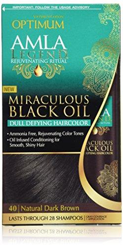 Optimum Care Amla Legend Miraculous Oil Dull Defying Hair Color, Natural Dark Brown