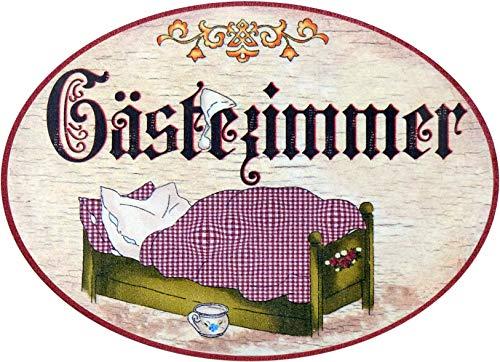 Kaltner Präsente Geschenkidee - Holz Türschild im Antik Design Motiv GÄSTEZIMMER