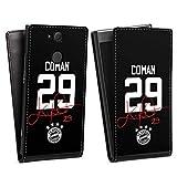 DeinDesign Flip Case kompatibel mit Sony Xperia XA2 Tasche Hülle Coman #29 FC Bayern München Trikot