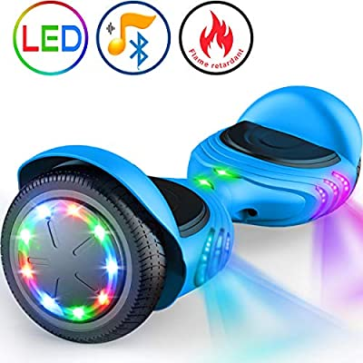 """TOMOLOO Hoverboard with Bluetooth Speaker, UL2272 Certified Self Balancing Electric Scooter, 6.5"""" Two-Wheel Hover boards with LED Lights for Kids and Adult"""