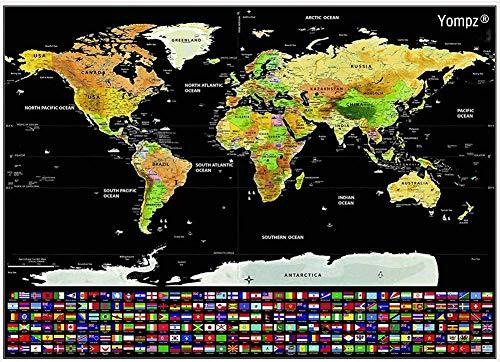 La Meilleure Carte Du Monde à Gratter Zone Led