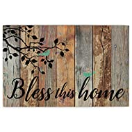 P. Graham Dunn Bless This Home Birds Design Distressed 25 x 16 Inch Solid Pine Wood Pallet Wall Plaque Sign
