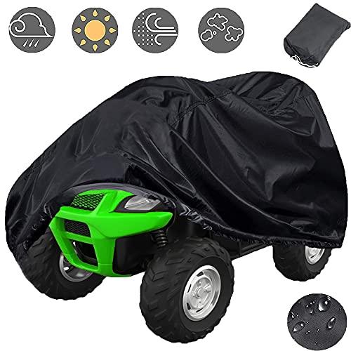 Indeed BUY Waterproof ATV Cover, 420D Heavy Duty Kids 4 Wheeler Quad Cover Small Protection for Honda Polaris Yamaha Suzuki Kawasaki Kart (87''x39''x42'')