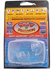 Doc's ProPlugs - Preformed Vented Earplugs (pair) Clear With Leash-MEDIUM SMALL