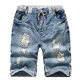 YoungSoul Jungen Shorts Bermuda Jeans Shorts Kinder Sommer Cargo Kurze Hose 152-164 Distressed Denim