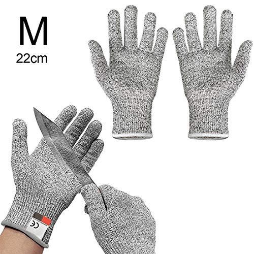 Oven Wanten & Oven Mouwen - Microvezel Magnetron Oven Beschermende Handschoenen Gesneden Hittebestendige Groenten Hand Bescherming Niveau 5 - Lange Magnetron Bestand Handschoen Handschoenen Wol Deksel Hittegaren was Random Color M 22cm