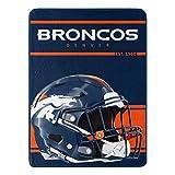 Northwest NFL Denver Broncos 46x60 Micro Raschel Run Design RolledBlanket, Team Colors, One Size (1NFL059050004RET)