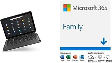 Touch Lenovo Chromebook 10.1 Laptop Download Microsoft 365 Family 64 GB blau // graue Tastatur Deutsch QW Tablet 6 Nutzer