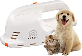Hermano Electric Pet Grooming Brush Suitable for Vacuum Cleaner Fur Massage Automatic De-Shedding Tool 4 Brushes for All Breeds of Dog Cat AC Adapter/Rechargeable Type