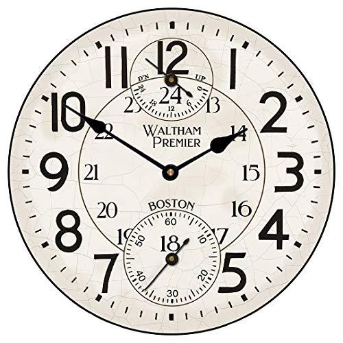 Ninguna marca Andover Waltham reloj de pared grande reloj redondo