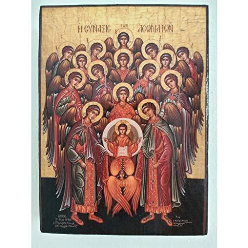 Artastate Icono de Fiesta de Los Arcángeles de Madera, Iconografia Cristiana Ortodoxa