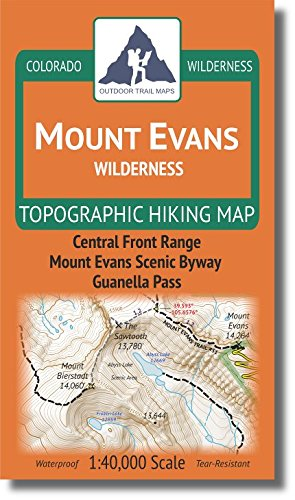 Outdoor Trail Maps Mount Evans Wilderness - Colorado Topographic Hiking Map (2018)