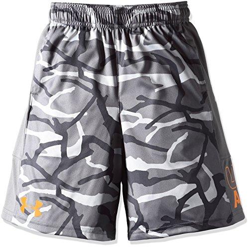 Under Armour Jungen Instinct Printed Shorts, Jungen, Graphit (040)/Radiat, Youth X-Small