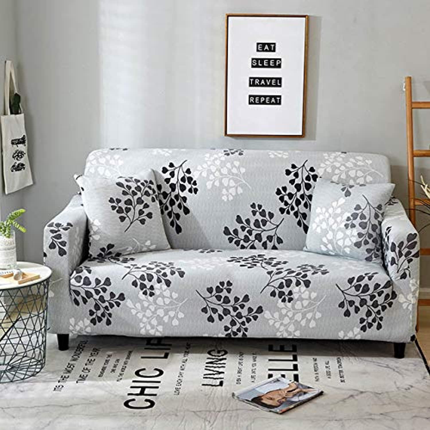 AntiDirty Sofa Cover AllInclusive SlipResistant Tight Wrap Elastic Couch Cover Furniture Covers capa de Sofa 1 2 3 4seater   color 1, 2pcs Cushion Covers