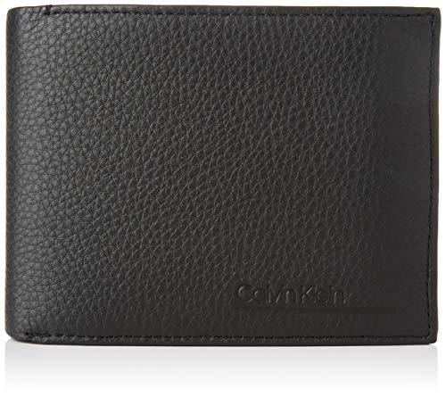 Calvin Klein Herren Ck Bombe' 10cc + Coin Geldbörse, Schwarz (Blackwhite Black), 1x1x1 cm