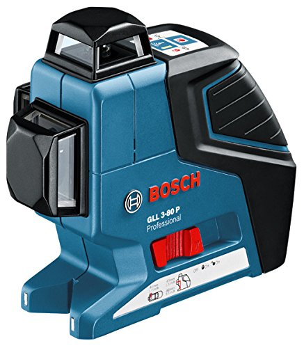 Bosch GLL 3–80P + BS1500–40m rangefinder–Entfernungsmesser (AA LR6, 1.5V, 75x 159x 141mm, 760g)