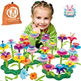 JoysToy Flower Building Toy Set, Garden Building Blocks Playset for Girls Boys, 98 PCS with 11 Colors Educational Kids Toys Creative for Decoration 3, 4, 5, 6 Year Old Toddler