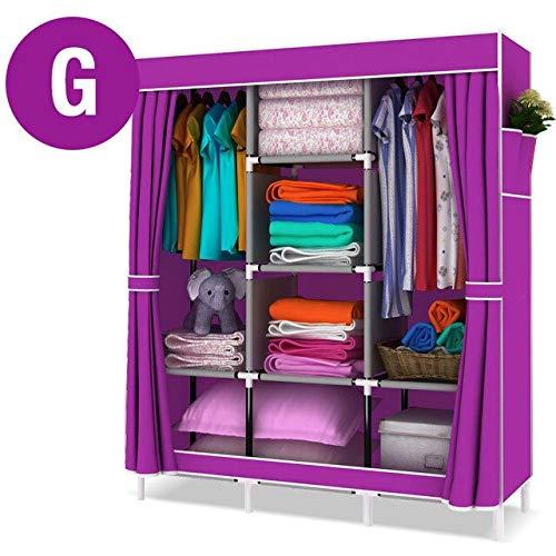 ADSIKOOJF multifunctionele niet-geweven doek grote kast kast DIY montage stof kast gevouwen kleding opbergkast slaapkamer meubilair