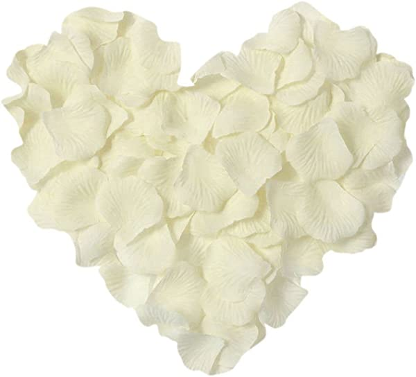 Neo LOONS 1000 Pcs Artificial Silk Rose Petals Decoration Wedding Party Color Ivory