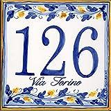 Zoom IMG-1 targa numero civico in ceramica