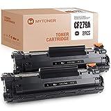 MYTONER - Tóner compatible con HP 79A CF279A para HP Laserjet Pro M12a M12w M12 MFP M26a M26nw M26 (2 unidades), color negro