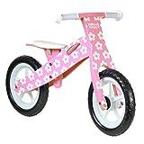 boppi Bici sin Pedales de Madera para niños de 2-5 años - Rosa con Flores
