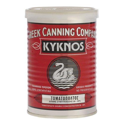 Kyknos doppelt konzentrierte Tomatenpaste 28-30{43965580ce9b59f486613328d37e4ac011413ac5a3990e3eec2f41375f1bce80} - 410g Dose, 1er Pack (1 x 410 g)