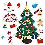 Aibrou �rboles de Navidad del Fieltro, 3.3ft �rbol de Navidad DIY Decoración, Colgantes de Pared de Navidad Adornos Extraíbles para Niños Año Nuevo Navidad Regalo
