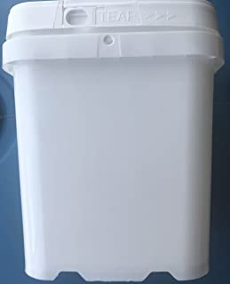 Plastic Bucket and lid, 3/4 gal, Square Ez Stor,12 Pack