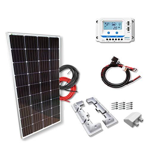 Kit 175W CAMPER 12V panel solar monocristalino células alemanas