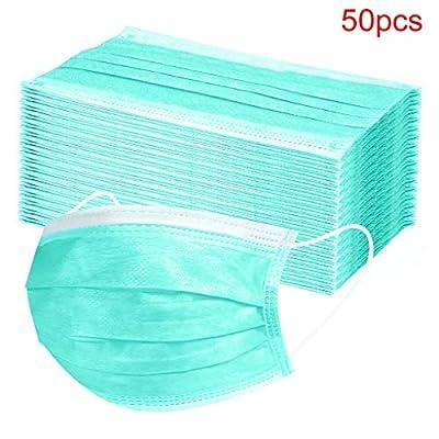 50Pcs Disposable Face Másks, Kids 3-Ply Face Surgical Medical Dental A Mak Mouth Protection for Smoke, Dust, Pollen, etc …