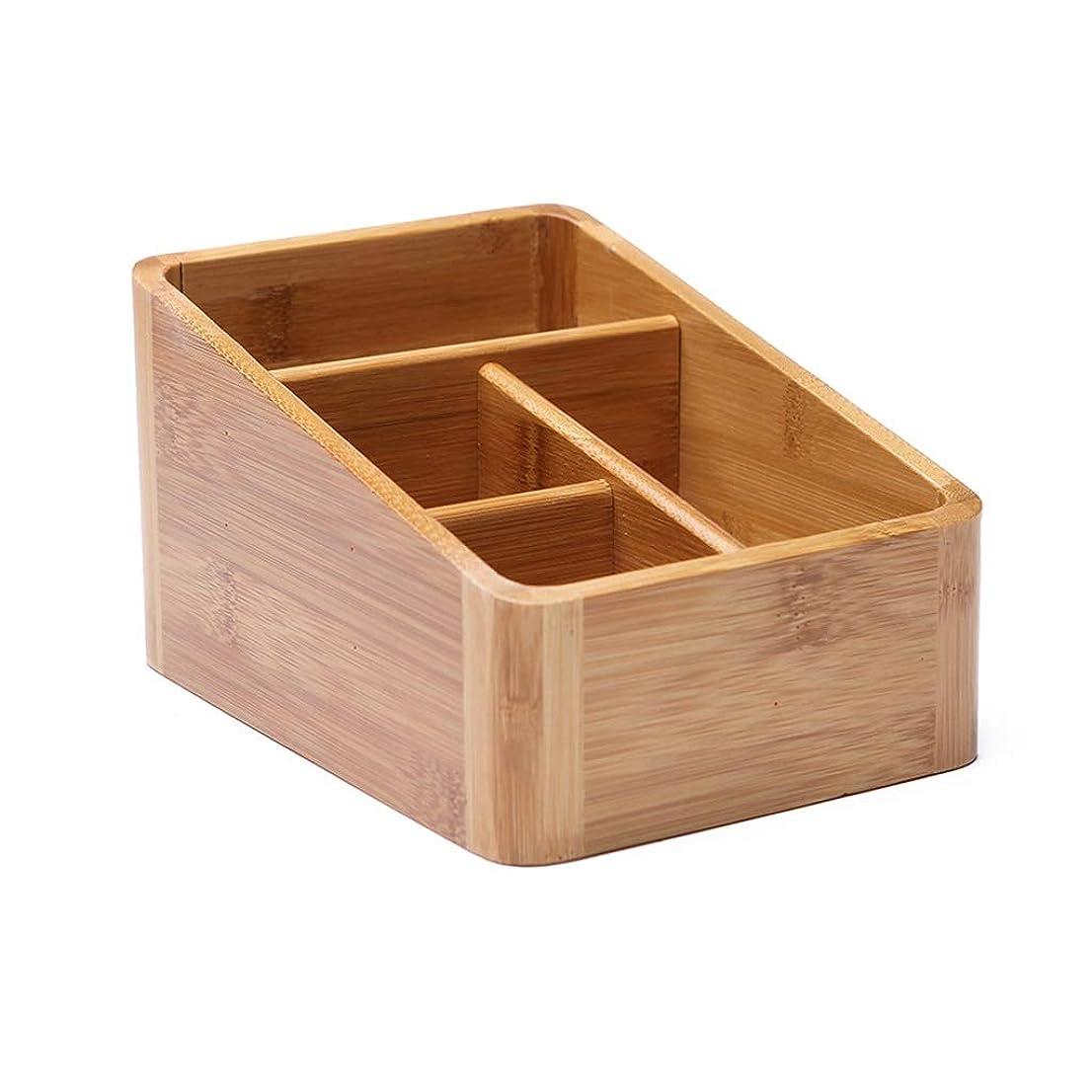 パラナ川サバント更新デスクオーガナイザー、竹キー化粧品ペーパータオル雑貨収納ボックス (サイズ さいず : M)