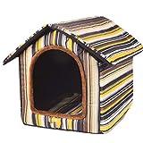 CXHMY Teddy Zwinger klein mittelgroß Hund Hundezwinger Sommer Haustier Nest Katzenstreu Indoor Hundehütte Vier Jahreszeiten Universal Hundehütte (Farbe: D, Größe: L)