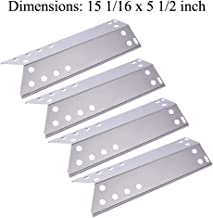 GasSaf Stainless Steel Heat Plate Replacement for Specific Grill Models Kenmore, Nexgrill, Uberhaus and Other, 4-pack 15 1/16 Inch Heat Shield, Heat Tent, Vaporizor Bar and Flavorizer Bar