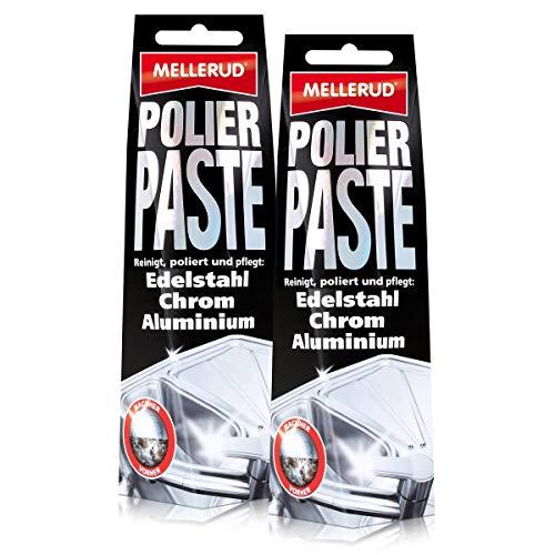 2x Mellerud Polierpaste für Edelstahl, Chrom und Aluminium 150 ml Tube