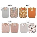 YO-HAPPY - Baberos de algodón de Doble Cara con diseño Floral Vintage para bebé, Bandana para niñas, Toalla para Alimentar a la Saliva