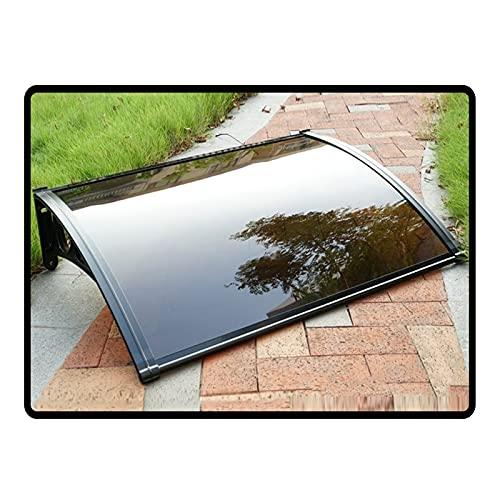 Auvent de Porte Entrée Marquise QIANDA Extérieur Couverture Fenêtre Toiture Pluie Abri À L'extérieur Soleil UV Protection - Différent Tailles (Size : 160cmx60cm)