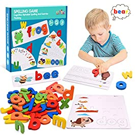 Tesoky Toys for 1-5 Year Old Kids Boys Girls, Alphabet Flash Cards Learning Toys for 2-4 Year Old Boys Girls Preschool Toys for 2-5 Year Old Kids-Best Gifts for Boys Girls Kids Age 2-5