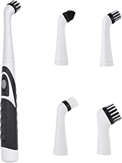 4in1 Electric Scrubber Cleaning Brush with 4 Replacement Heads Dirt Oil Dust Household Brush for Tub Bathroom Kitchen