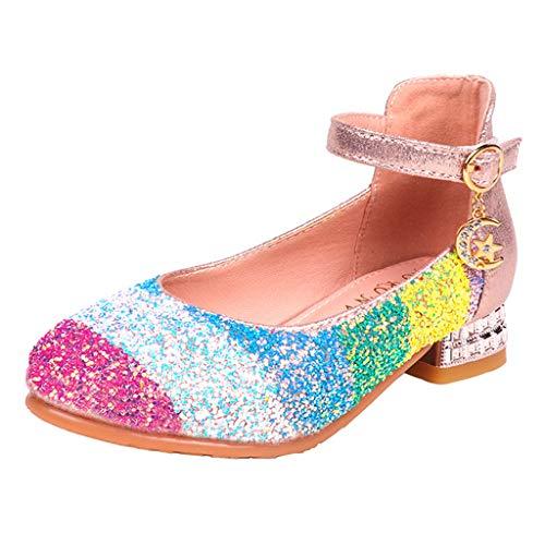 ELECTRI Bowknot Princess Chaussures Bébé Filles Chaussures Enfant Garcon Strass Brillant Cristal Sandales Bébé Fille Performances de Scène Talons Hauts Sandales