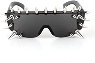 Punk Rocker Large Shield Spike Fashion Novelty Party Dance Sunglasses Rivet