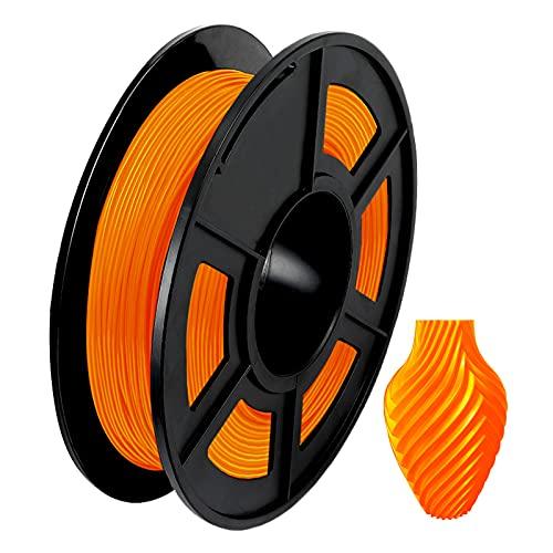 Funien Tpu Filament, TPU 3D Printer Filament 1.75mm Dimensional Accuracy +/- 0.02mm 1kg(2.2lbs) Spool, Orange